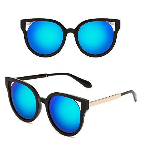 Cadre Lentille noir Frame Unisexe lunettes Wayfarer Eye métal mode Noir en Bleu de hommes pour de Dintang soleil Cat et soleil de femmes lunettes 1qPwgv