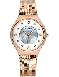 Time 14427-366 Womens Solar Collection Watch with Mesh Band and scratch resistant sapphire crystal