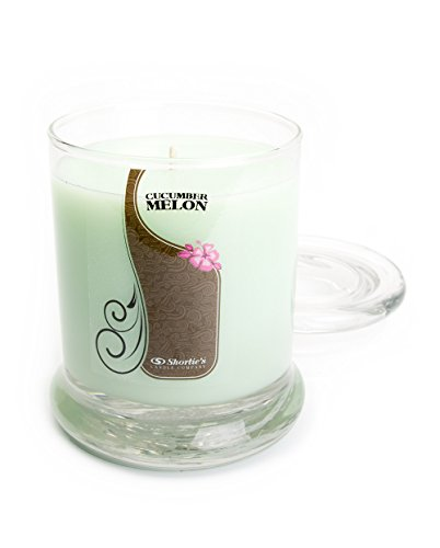 Cucumber Melon Candle - Medium Green 10 Oz. Highly Scented Jar Candle - Made with Natural Oils - Fresh & Clean Collection