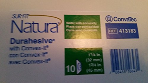 Convatec Sur Fit Natura Stomahesive Flexible Wafer With Tan Collar 1 3/4