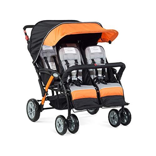 Foundations Quad Sport 4 Passenger Stroller, Orange ()