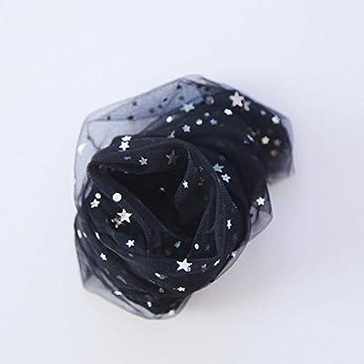 Maivasyy 5 paires de chaussettes fines mailles Lune Étoile Tulle Noir Chaussettes,