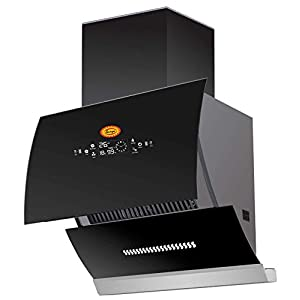 SURYA Auto clean Glass opening Kitchen Chimney Model GO-2020 (Black) With Auto Glass opening, Wave Sensor,Completely…