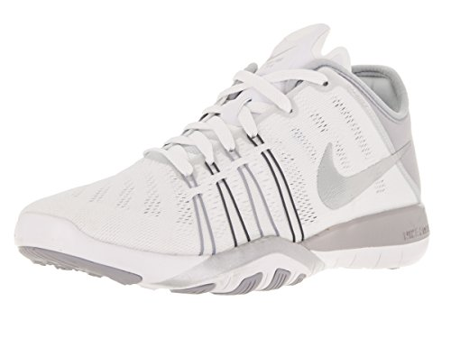 NIKE Women's Free Tr 6 White/Metallic Silver/WLF Grey Training Shoe 5.5 Women...