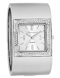 Marciano Women's Watch | Large Silver Bangle & Rhinestone Accent Bezel | HA0236