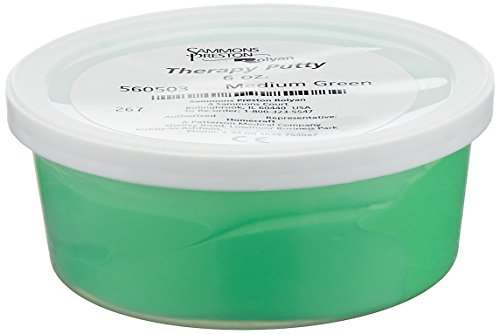 Sammons Preston Therapy Putty for Physical Therapeutic Hand Exercises, Flexible Putty for Finger and Hand Recovery and Rehabilitation, Strength Training, Occupational Therapy, 6 Ounce, Medium, (Hand Finger Exercise System)