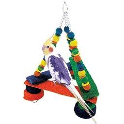 Penn Plax Loofa Kabob Pyramid Bird Swing