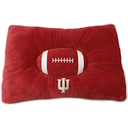 NCAA PET Bed - Indiana Hoosiers Soft & Cozy Plush Pillow Bed. - Football Dog Bed. Cuddle, Warm Collegiate Mattress Bed for Cats & Dogs (Pet Bed Ncaa)