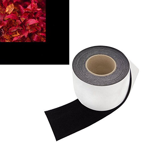 Fixed Velvet Frame Frame - 4 in x 30 ft - Vibrancy Enhancing Projector Felt Tape Border - by ConClarity – Deepest Black Ultra High Contrast Felt Tape for DIY Projector Screen Borders Absorbs Light, Brightens Image & Stops Bleed
