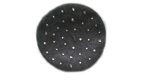 Cheveux Rhinestone and Silver Studded 100% Wool Beret at Amazon Womens Clothing store:
