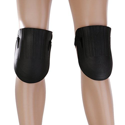 膝パッド 膝当て ニーパッド 膝プロテクター 膝を保護 防水 ラバー製 1ペア ブラック