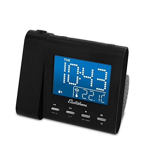 Electrohome EAAC601 Projection Alarm Clock with AM/FM Radio, - Portable Am Fm Digital Radio