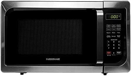 Farberware Classic FMO09AHTBKC 0.9 Cubic Foot 900-Watt Microwave Oven, Stainless Steel