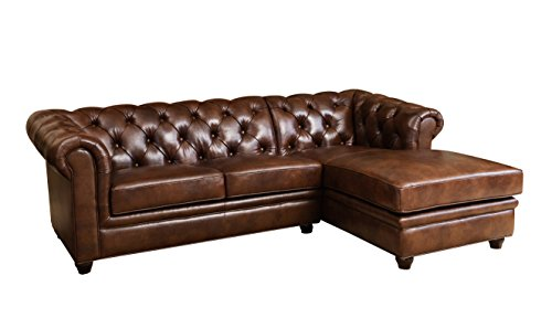 Leather Sectional with Chaise