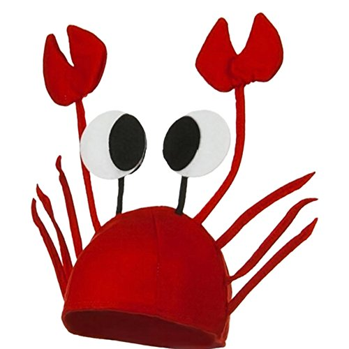 [RoseSummer Red Novelty Lobster Crab Sea Animal Hat Costume Accessory] (Crab Costumes)