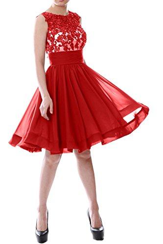 MACloth - Robe - Trapèze - Sans Manche - Femme -  Rouge - 56