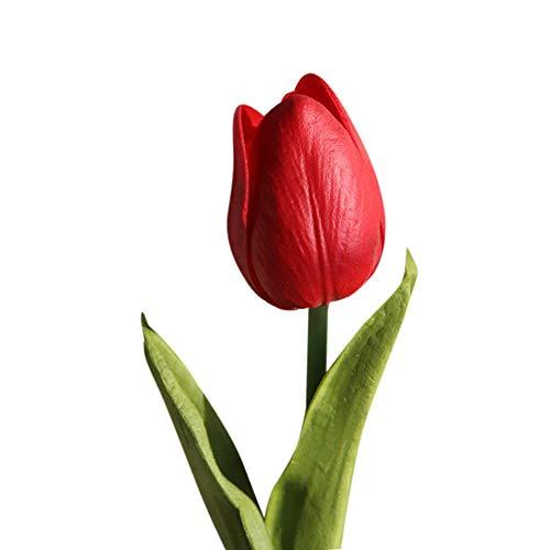 SDCSQ Artificial Fake Flowers Tulip Bouquet Floral Wedding Bouquet Party Home Decor ()