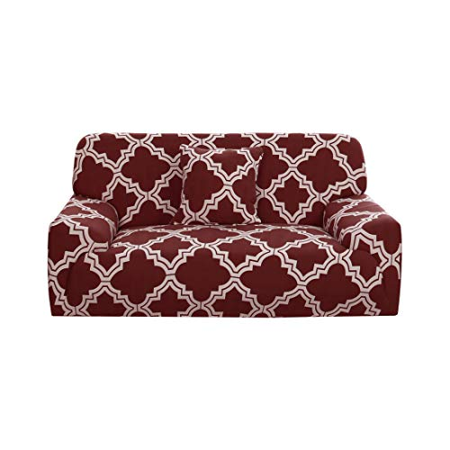 uxcell Stretch Sofa Cover Couch Cover 3 Seater Polyester Spandex Fabric 1-Piece Sofa Slipcover for Chair Loveseat Sofa Elastic Furniture Protector with One Free Cushion Case #J 76-90 Inch