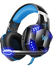 VersionTECH. Casque Gaming Filaire pour PC avec Microphone Anti-Bruit, Contrôleur de Volume, Son Surround, Les Lumières LED Compatible avec PS4 Xbox One Ordinateur Portable, Nintendo Switch - Jaune