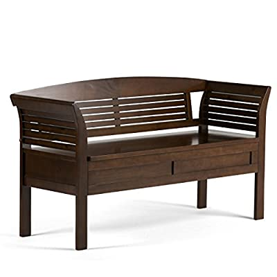 Simpli Home Arlington Entryway Storage Bench