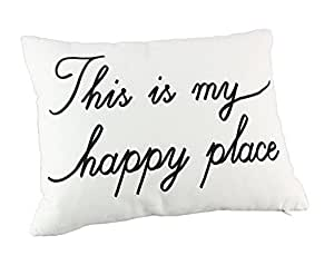 """Young's Happy Place Pillow, 16"""" by 12"""""""
