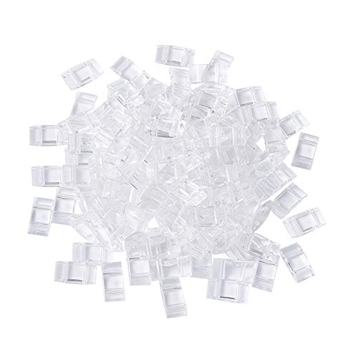 (Kissitty 100-Piece Carrier Beads for Beadweaving Two-Hole Transparent Clear Acrylic Bead Base Multi-Strand Links 17x9mm)