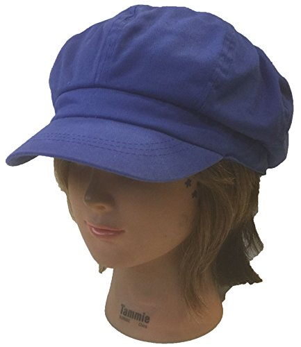 100 % Cotton Applejack Newsboy Cabbie Gatsby Golf Driving Ivy Hat Cap (Blue)