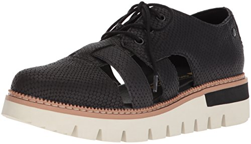 Caterpillar Women's Verse lace up Oxford with Cut Outs, Black, 11 Medium US