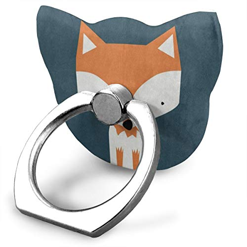 Phone Stand Single Cute Fox Cat Type Ring Phone Holder Adjustable 360° Rotation Finger Cat Type Ring Stand for IPad Phone X/6/6s/7/8/8 Plus/7, Galaxy S9/S9 Plus/S8/S7 Android Smartphone