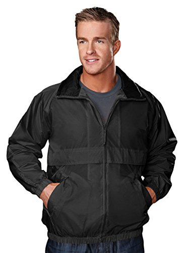 Tri Mountain 2000 Highland Windproof/Water Resistant 100% Nylon Jacket, Black XL