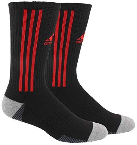 - adidas Tiro Crew Socks (1-Pack), Black/Power Red/Onix/Heather Grey, 9.5-12
