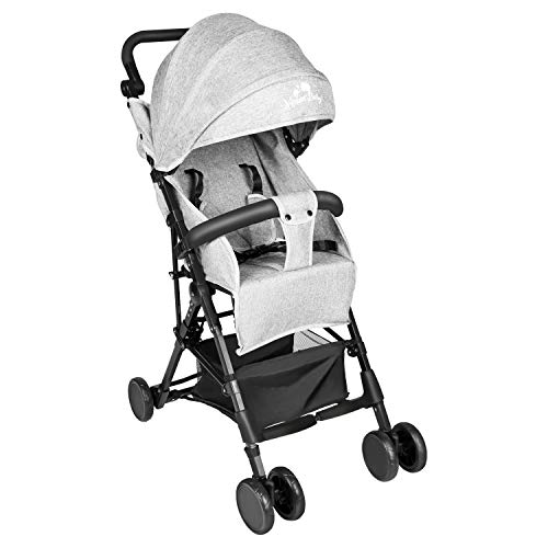Kinbor Baby Portable Lightweight Stroller with On-Hand Fold Design Compact Baby Infant Airplane and Car Travel Stroller, Compact Storage, 5-Point Safety, Canopy Sun Shade