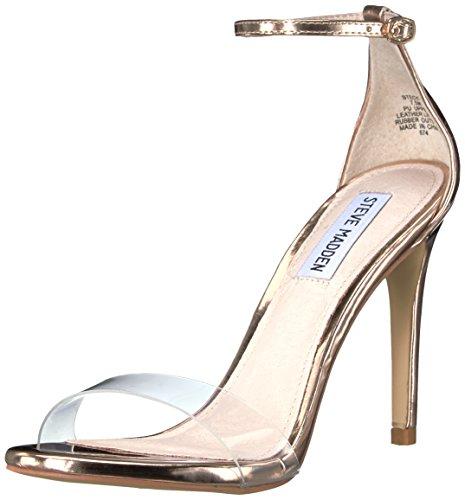 Steve Madden Women's Stecy-c Dress Sandal, Rose Gold, 10 M - Madden Gold Steve