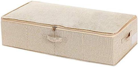 Kentop Cajas de Almacenamiento con Tapas Plegables Caja de Almacenamiento con asa Grandes contenedores de Almacenamiento para Juguetes, Libros, Armario, Dormitorio, hogar (Blanco): Amazon.es: Hogar