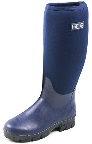 da 37 47 Oxbridge Agricoltura pesca a Blu Boots Taglia Rain Fango marino Neoprene zqwzpvgB