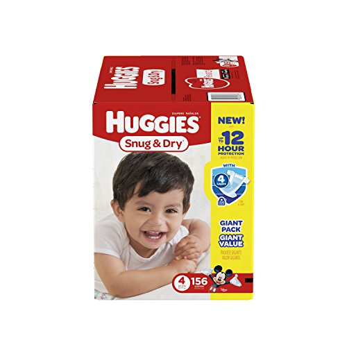 HUGGIES-Snug-Dry-Diapers-Size-4-156-Count-Packaging-May-Vary