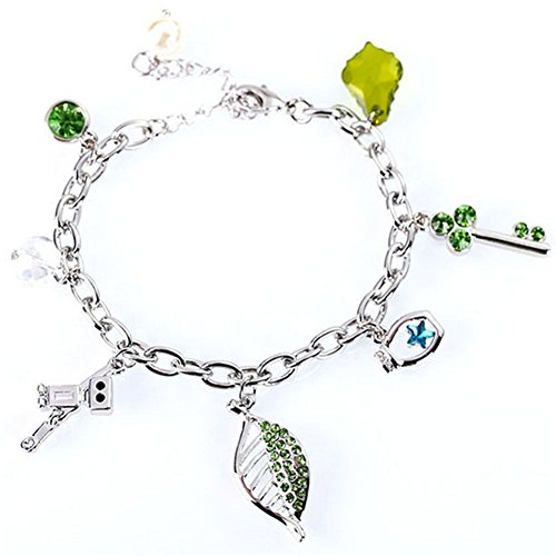 LuxuryLady-6 Austrial Crystal Sexy Cute Leaf Leisure Fashion Female Girl Bracelet(C2)