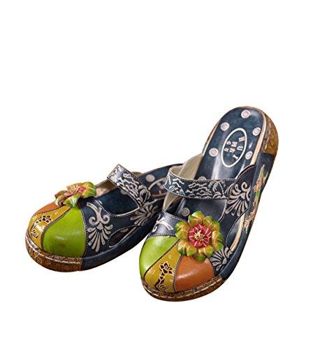 gruesas Zapatillas gamuza damas de caramelo antideslizantes nacional de color para azules Baotou ppRSrwfq