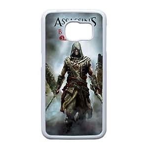 Samsung Galaxy S6 Edge Phone Case White Assassins Creed Black Flag ZEC886204