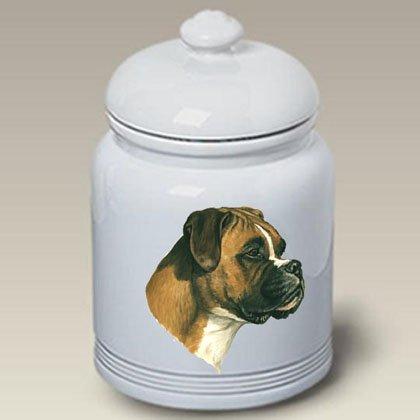 (Best of Breed Boxer Uncropped - Linda Picken Treat Jar)