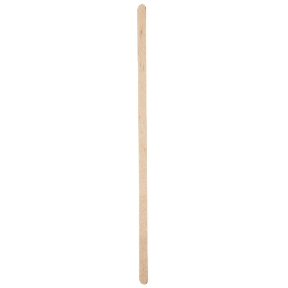 Royal Paper R825W 7 1/2'' Eco-Friendly Wood Individually Wrapped Coffee Stirrer 500/Pack