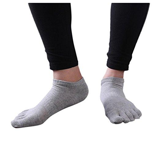 Menstoe Chaussettes, Inkach Hommes Élégants Coton Cinq Doigts Chaussettes Chaussettes De Course Respirant Léger Pas De Show Chaussettes G