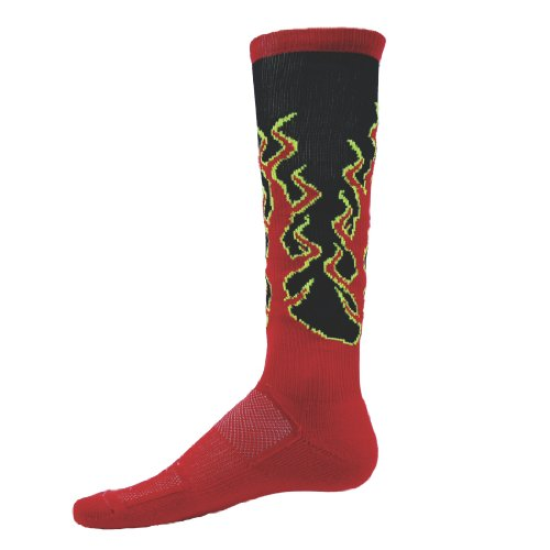 Red Lion Sparks Knee High Athletic Sock ( - Softball Socks With Flames