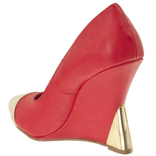 Womens STYLUXE Zenon Detail Wedges Contrast Red BFFfqwr7dn