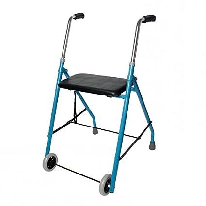 Andador Hermes, ligero y plegable con asiento para ancianos de Ortaid