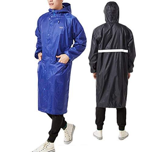 Elodiey Waterproof Anni Blu Women 20 Traspirante E Jacket Rain Con Tasca Cappuccio Raincoat Scuro rTR1r