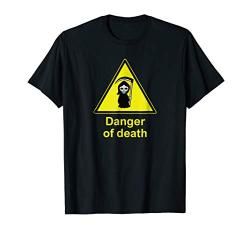 Grim Reaper Halloween T-Shirt - Danger of Death