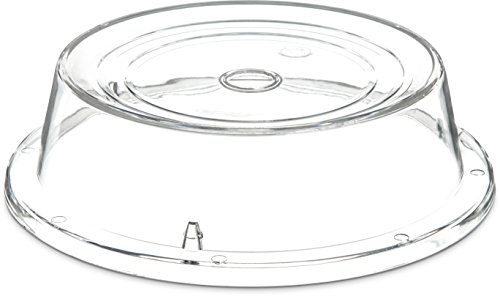 Carlisle 196507 Polycarbonate Plate Cover, 10'' Bottom Diameter x 2.65'' Height, Clear (Case of 12) by Carlisle