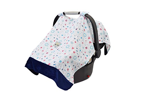 - Itzy Ritzy Car Seat Canopy - Muslin Infant Car Seat Cover Fits All Car Seats, Includes Toy Loops and is Made of Lightweight, Breathable Muslin, Interstellar
