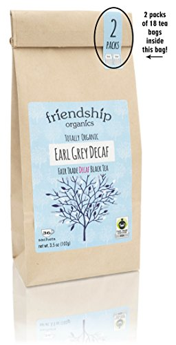 Decaf Earl Grey Tea, Organic Fair Trade, 36 tagless ()